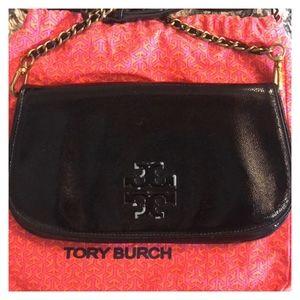 Tory Burch Patent Clutch Leather Crossbody Bag